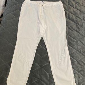 White Elena Miro ankle pants
